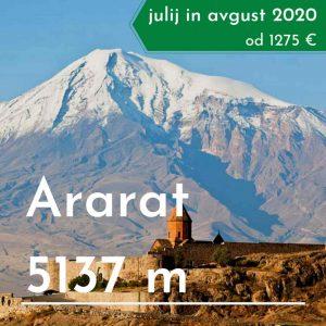 treking potovanje Ararat