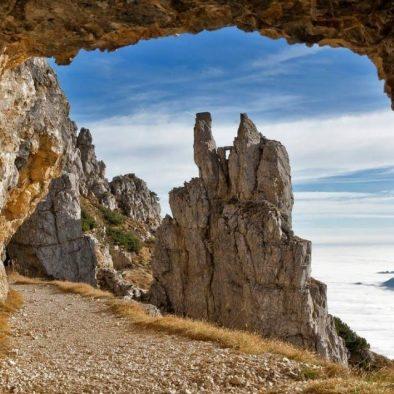 Pot skozi tunele Monte Pasubio STRADA DELLE 52 GALLERIE