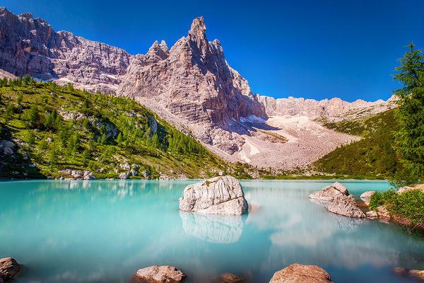 jezero sorapis treking dolomiti